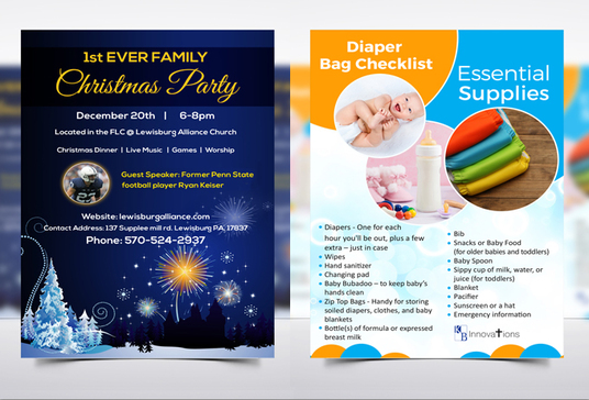 I will design flyer or leaflet