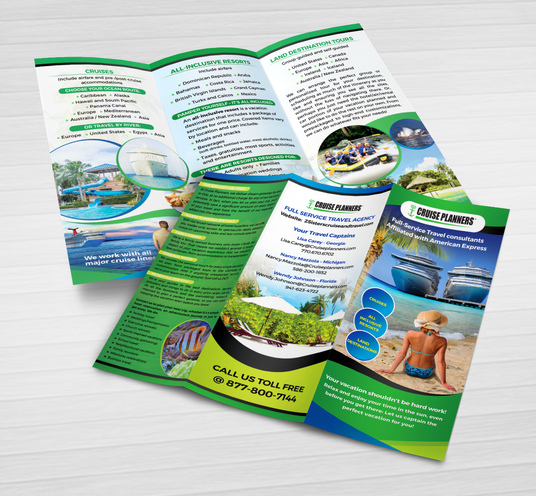 I will  design professional trifold brochure in 24 hours
