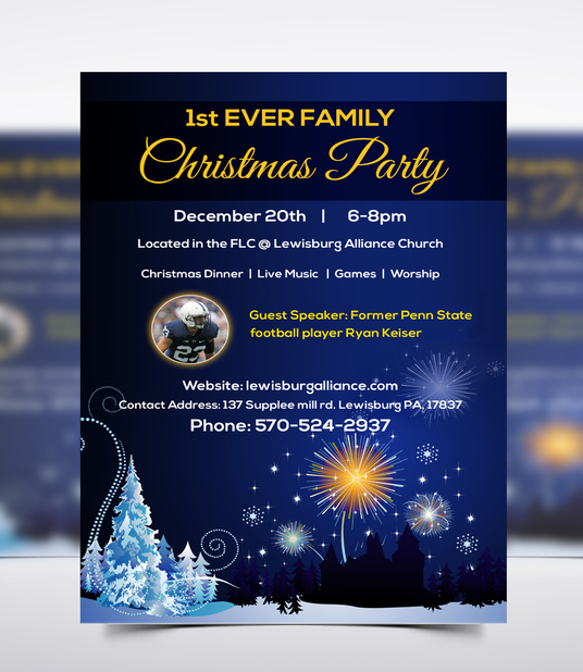 I will design christmas flyer or christmas poster or leaflet in 24 hours