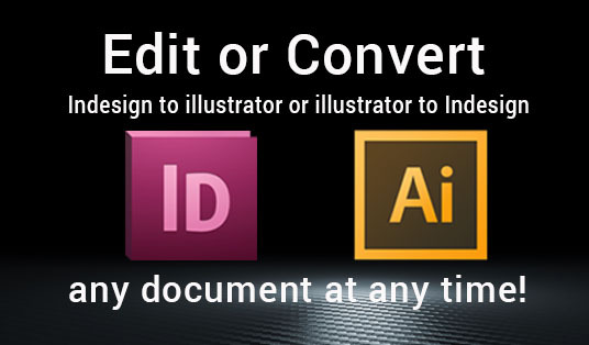 Do edit, convert any Indesign, Illustrator, Photoshop files for £10 :  weherefor - fivesquid