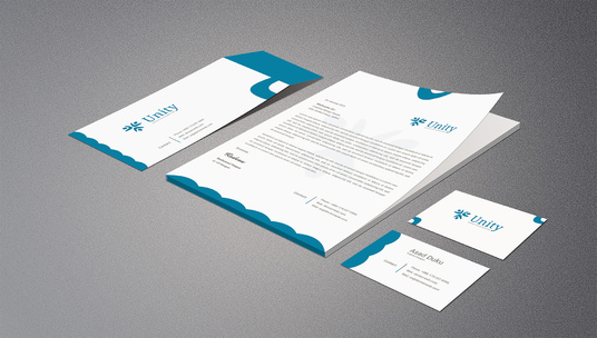 design the Letterhead in Microsoft Word