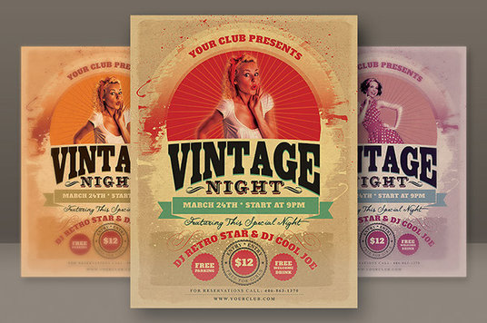 I will create a flyer for your band or venue with a vintage look