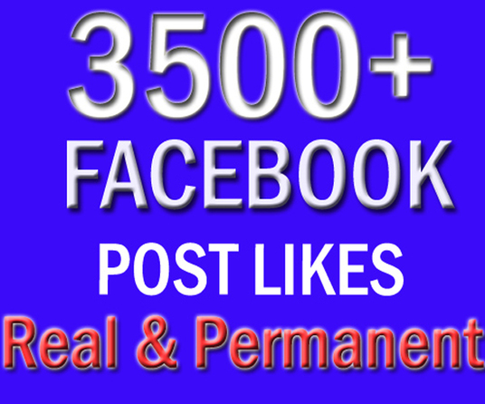 I will add 3500 plus facebook posts or photo or video likes split upto 1 to 3 posts