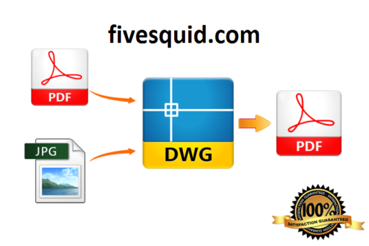 I will convert pdf or jpeg file to AUTOCAD dwg file