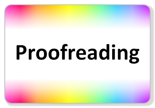 I will proofread a document, correcting spelling and grammar mistakes along the way.