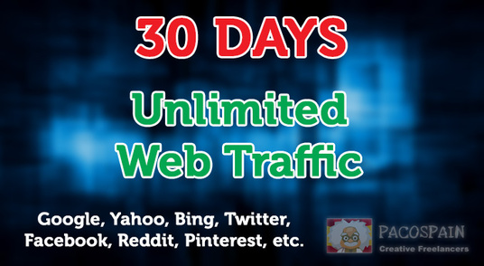 I will send unlimited organic and social media web traffic