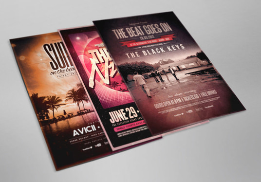 I will Design Professional flyers, brochures, posters and much more..
