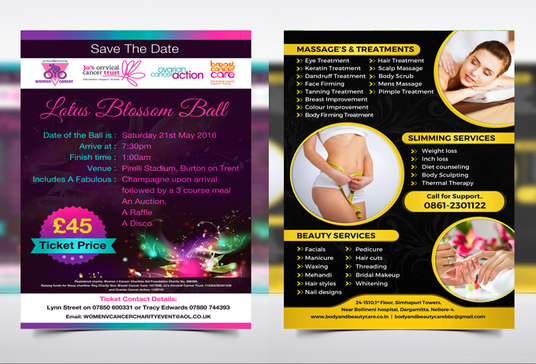 I will design  a set of flyer and  bi or tri fold brochure and businesscard in 2 days