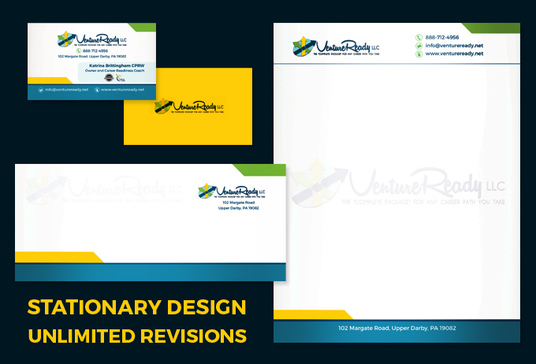 I will design business card, letterhead, envelope and folder design with print resolution files i