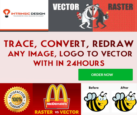 I will line art , free style drawing,redraw logo,images to vector