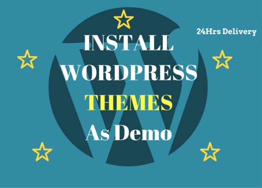 I will install a wordpress theme and setup like demo in 24hrs