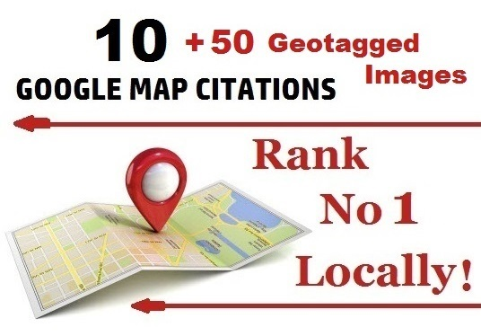 I will Manual 10 Google Map Citations + 50 GEOtagged Images for Local SEO Boost