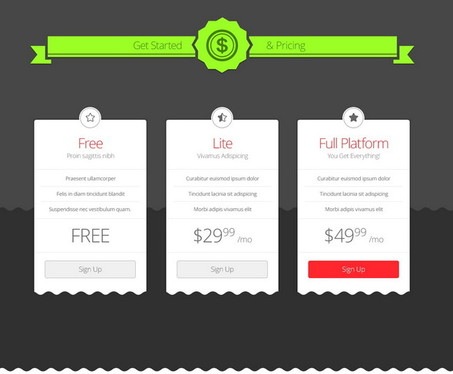 your pricing plan banner