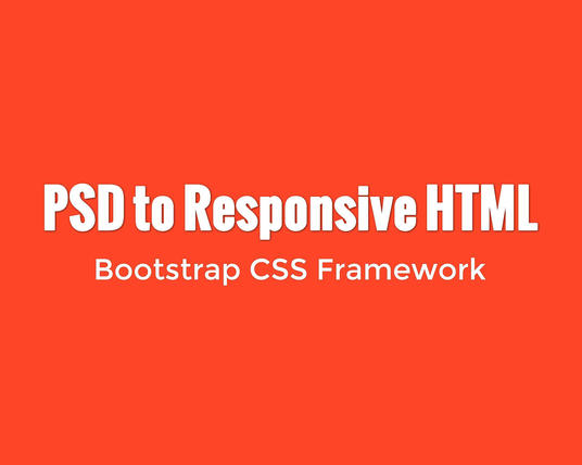 I will convert PSD to responsive bootstrap template
