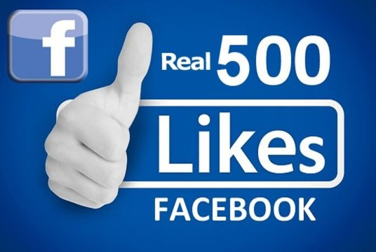 I will Give Real 500 Plus Facebook Fanpage Likes