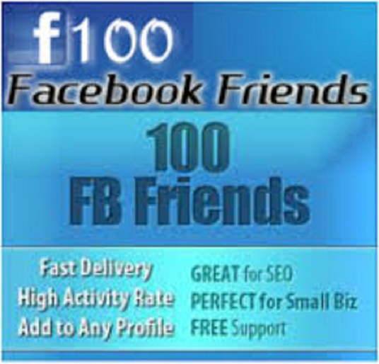 I will give you 100+Real & Active Facebook Friends in your profile