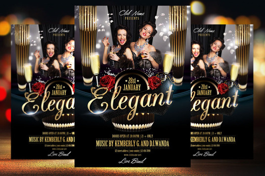 I will Design Modern and Trendy Fun Party Posters and flyers
