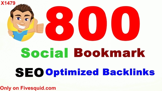 I will Create 800 Super HQ SEO social bookmarks high Poweful backlinks, rss, ping