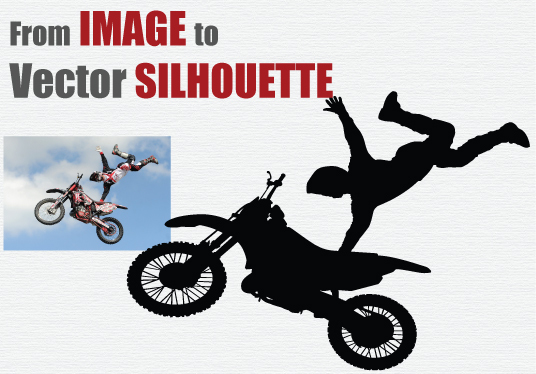 I will convert IMAGE to Vector SILHOUETTE