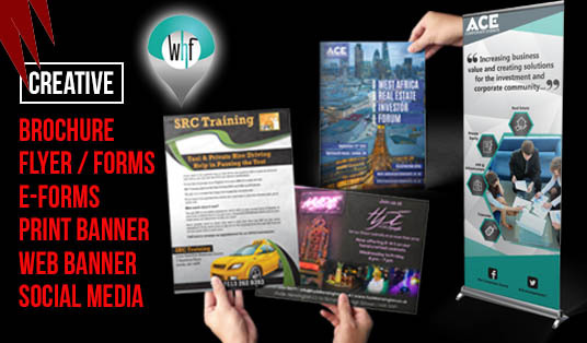 I will design Brochure, Flyer, Forms, Electronic Forms, Sign Banner, Web Banner, Social Media Fac