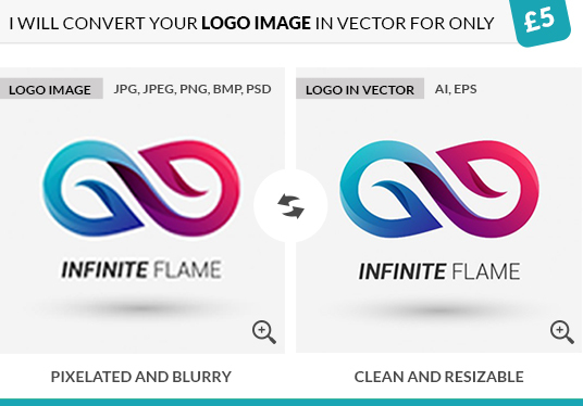 I will convert your logo image in vector