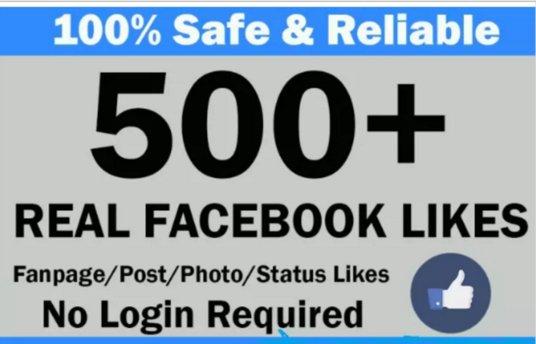 I will add 500 Facebook Fanpage Post likes or 100 Fanpage likes