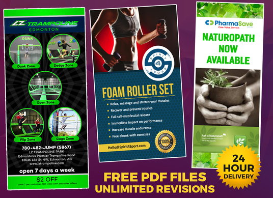 I will design Eye catching Roll up or standee or pull up banner in 24 hours