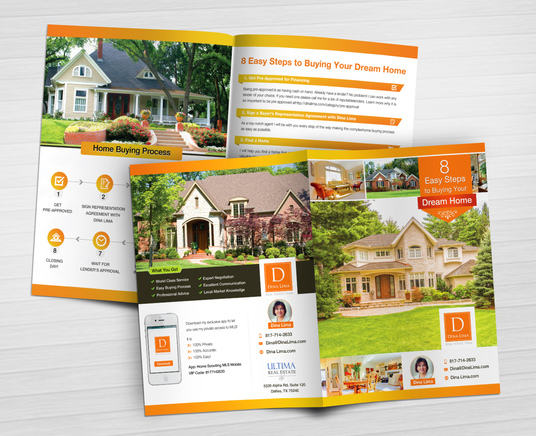 I will design 4 page A4 bi fold brochure with with ready PDF files in 24 hours