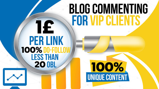 I will do vip unique blog comments with unique content on low obl pages