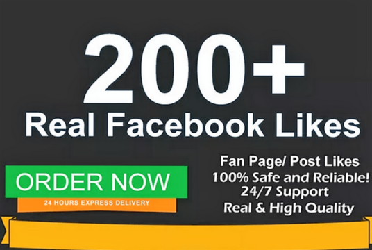 I will add 200 Facebook Fan page likes in 1 day