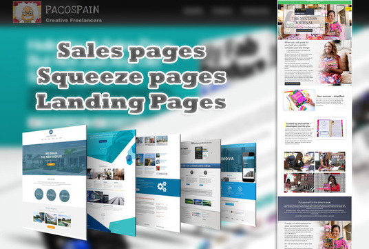 I will design Squeeze page, Landing page, sales page (+ Sales Copy)