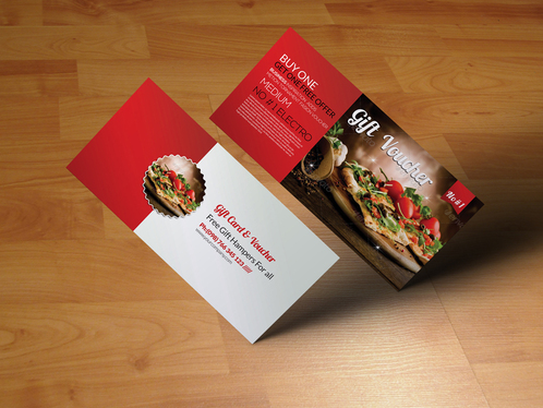 design holiday voucher and card