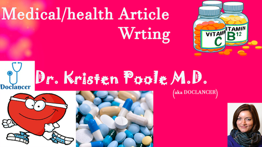 I will write two 600  word medical articles