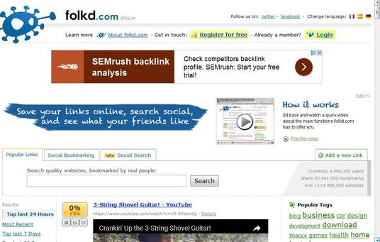 I will Do social Bookmark 100 Folkd Vote for your website to improve your google ranking