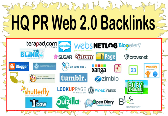 Get you 30 high PR web 2.0 Backlinks