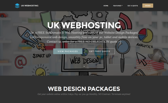 create ONE PAGE website with modern & RESPONSIVE design