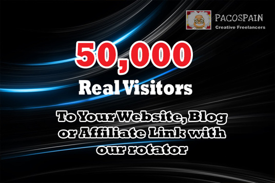 I will send 50,000 Web Traffic To Your Website, Blog or Affiliate Link with our rotator