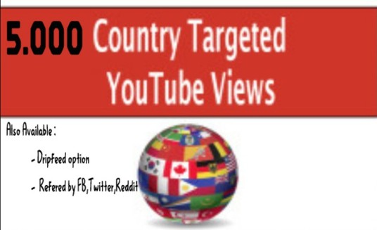 I will Give you 5.000 Country Targeted Youtube view