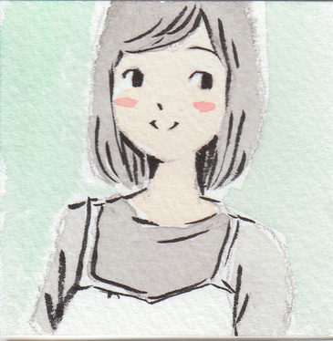 draw your face in this manga style with watercolour and ink