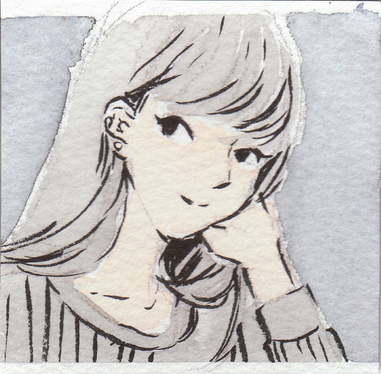 cccccc-draw your face in this manga style with watercolour and ink