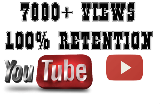 I will add 7000 To 7500  Youtube views