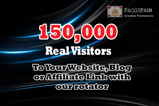 I will send 150,000 Web Traffic To Your Website, Blog or Affiliate Link with our rotator