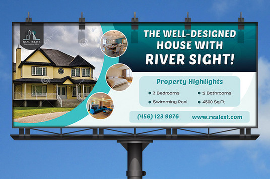 I will design a creative and professional  billboard design for you
