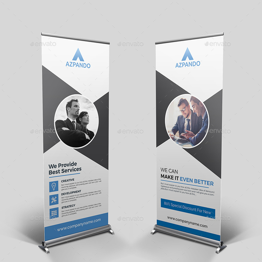 Design A Creative And Professional Roll Up Banner For You