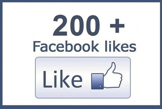 give you up to 200+ Real facebook Page Likes from global