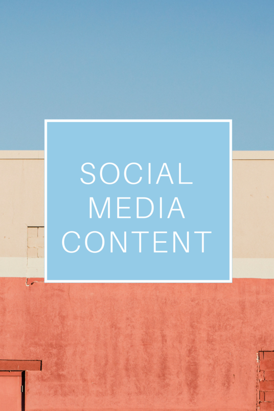 I will create a month's worth of social media content