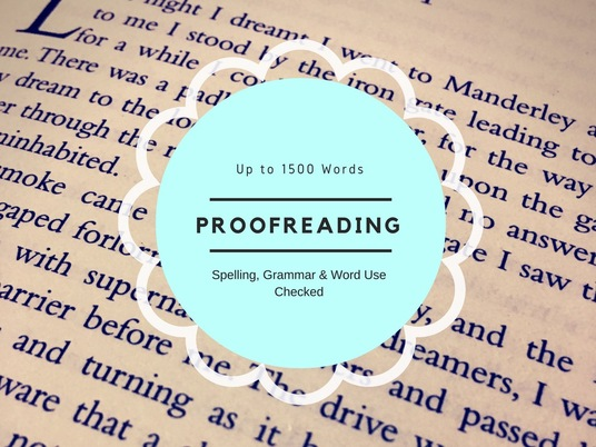 I will proofread up to 1500 words of any text