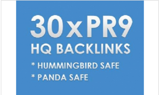 I will create 30 pr 9 Backlinks