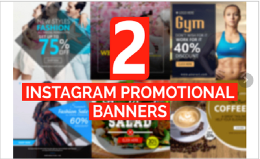 I will Design 2 Stunning Insta Banners