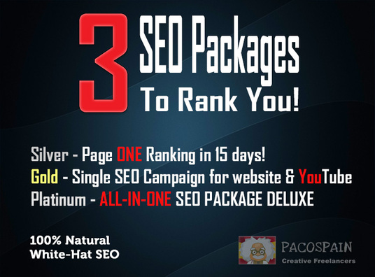 I will 3 SEO Packages to Rank Your Website by Your Keywords!